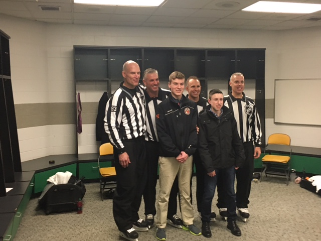 Jack and Hunter with the NHL Refs